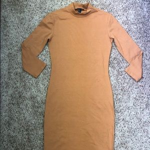 Brown/Tan Forever 21 long bodycon dress